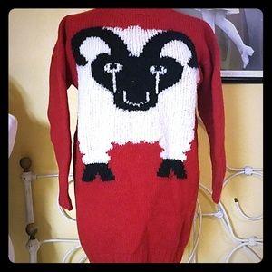 Vintage Peru sheep sweater.  Seriously.  Sheep.